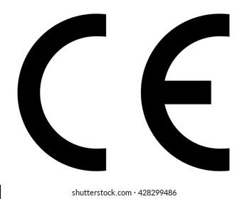 CE mark symbol . Vector illustration