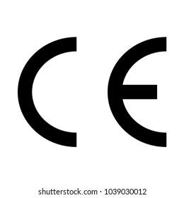 ce marking icon sign, ce mark symbol