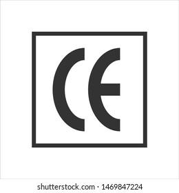 CE marking symbol. European Conformity certification mark. Vector illustration