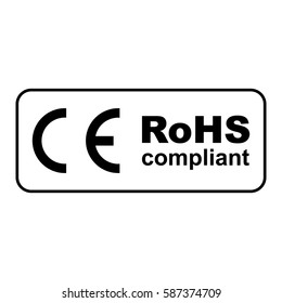 CE RoHS compliant sign, vector illustration.