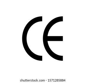 CE symbol vector icon illustration