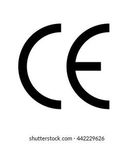 CE symbol. Vector illustration.