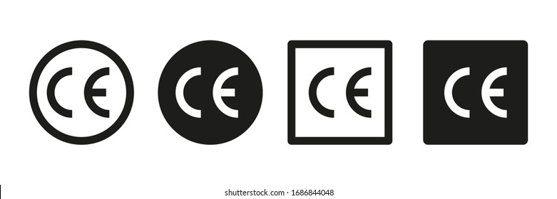 CE vector signs or symbols isolated on white background. Vector icon quality guarantee. Certificate vector icon. EPS 10