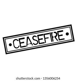 CEASEFIRE stamp on white