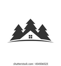 cedar and home logo vector.