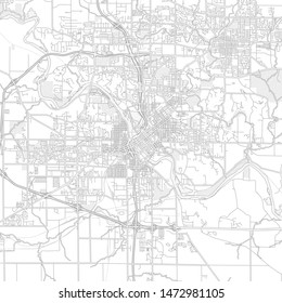 Cedar Rapids, Iowa, USA, bright outlined vector map with bigger and minor roads and steets created for infographic backgrounds.