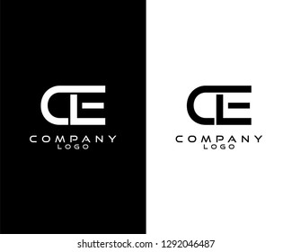 ce/ec modern logo design with white and black color that can be used for business company.