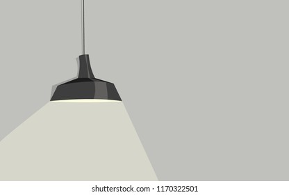 The Ceiling Fixture on  wall background with light.