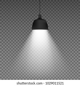 Ceiling lamp. isolated on transparent background. Vector illustration. Eps 10.