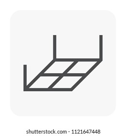 Ceiling and material icon design.