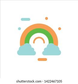 Celebrate, Cloud, Colorful, Ireland, Irish  Flat Color Icon. Vector icon banner Template