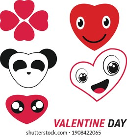 Celebrate the day of love with cute love and full of joy, love your partner sincerely.