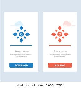 Celebrate, Decorate, Decoration, Diwali, Hindu, Holi  Blue and Red Download and Buy Now web Widget Card Template. Vector Icon Template background