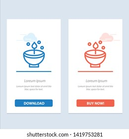 Celebrate, Deepam, Deepavali, Diwali, Festival, Lamp, Light  Blue and Red Download and Buy Now web Widget Card Template