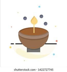 Celebrate, Deepam, Deepavali, Diwali, Festival, Lamp, Light Abstract Flat Color Icon Template
