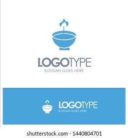 Celebrate, Deepam, Deepavali, Diwali, Festival, Lamp, Light Blue Solid Logo with place for tagline