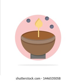 Celebrate, Deepam, Deepavali, Diwali, Festival, Lamp, Light Abstract Circle Background Flat color Icon