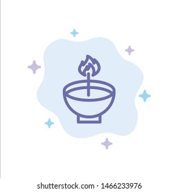 Celebrate, Deepam, Deepavali, Diwali, Festival, Lamp, Light Blue Icon on Abstract Cloud Background. Vector Icon Template background