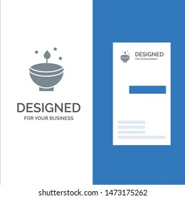 Celebrate, Deepam, Deepavali, Diwali, Festival, Lamp, Light Grey Logo Design and Business Card Template