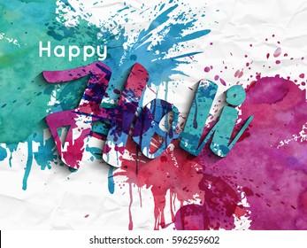 Celebrate festival abstrac background Happy Holi. Indian Holi festival of colours,eps10