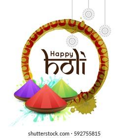 Celebrate festival new style background Happy Holi. Indian Holi festival of colours,eps10