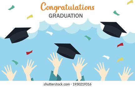 Celebrate graduation in this unprecedented school year moment of accomplishment illustrations