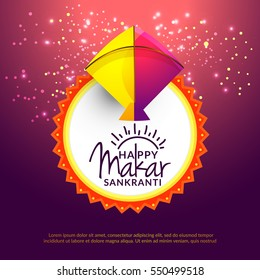 Makar sankranti images stock photos vectors shutterstock celebrate makar sankranti greeting card background with colorful kite m4hsunfo