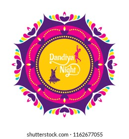 Celebrate navratri festival with dancing garba design vector illustration.