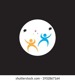 Celebrate the students logo vector