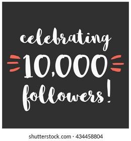 Celebrating 10,000 Followers (Vector Design Template For Social Media)