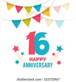 Celebrating 16 years anniversary