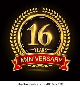 16adebe4087db Celebrating 16 years anniversary with wreath