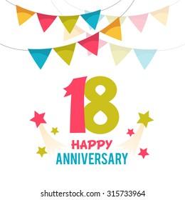 Celebrating 18 years anniversary