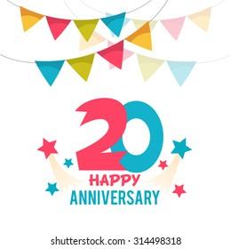 Celebrating 20 years anniversary