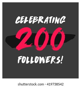 Celebrating 200 Followers (Vector Design Template)
