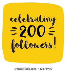 Celebrating 200 Followers (Vector Design Template For Social Media)