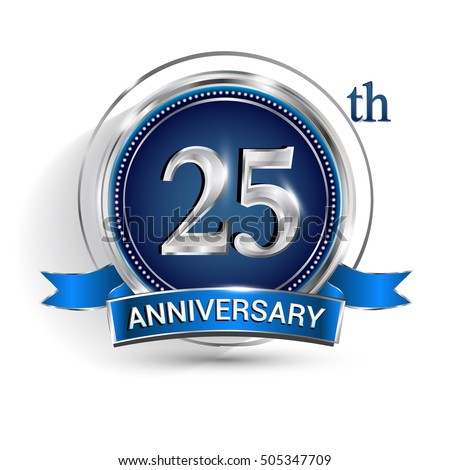 celebrating 25th anniversary logo silver ring stock vector royalty rh shutterstock com 25th anniversary logo vector free 25th anniversary logo vector free download