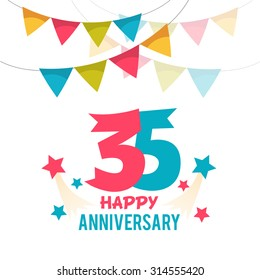 Celebrating 35 years anniversary