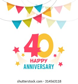 Celebrating 40 years anniversary