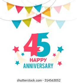 Celebrating 45 years anniversary