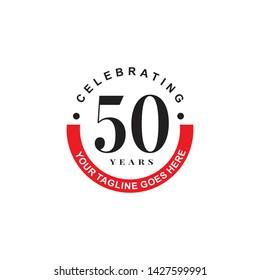 Celebrating 50th years anniversary logo design template