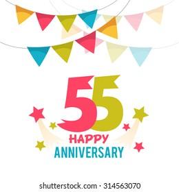 Celebrating 55 years anniversary
