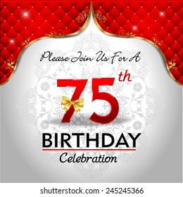 75th Birthday Images Stock Photos Amp Vectors Shutterstock