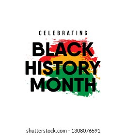 Celebrating Black History Month. American and African People.
