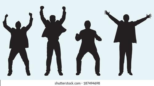 Celebrating Businessmen