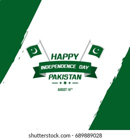 Celebrating Pakistan Independence Day creative vector illustration. August 14th pakistan independence greetings and wishes with creative typography.