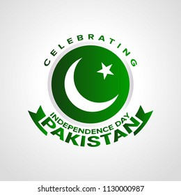 Celebrating pakistan independence day with typography.
