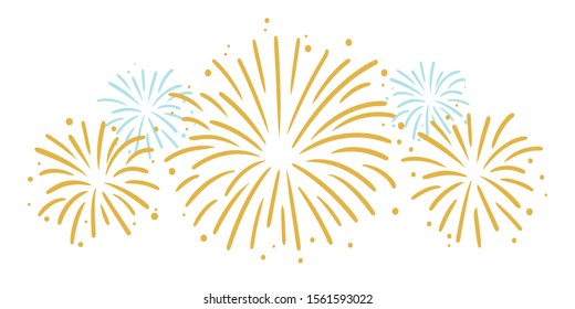 Celebrating Party Fireworks Vector Graphic