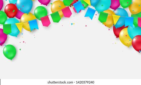 風船 フラッグのイラスト素材画像ベクター画像 Shutterstock