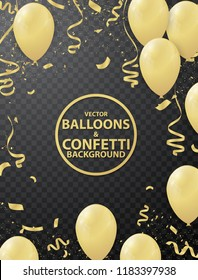 Celebration background with golden balloon.